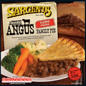 Sargents Aussie Angus Beef Family 550g